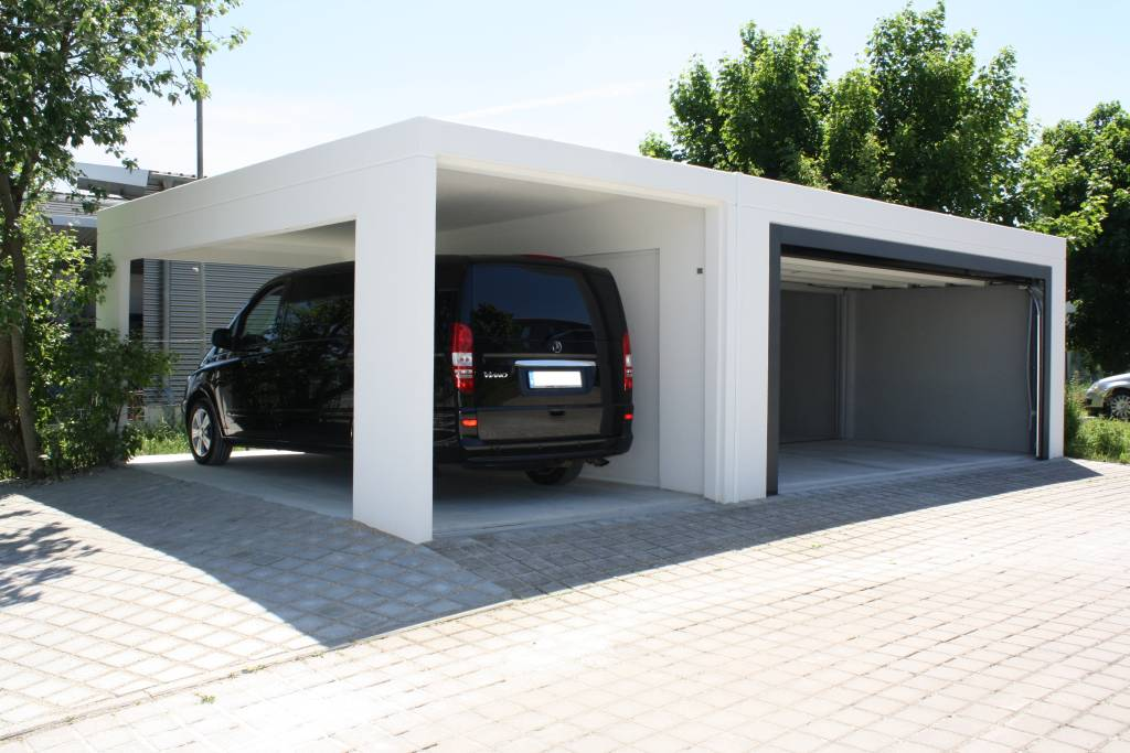 fertiggarage mit carport doppelgarage holzgarage mit startseite design bilder. Black Bedroom Furniture Sets. Home Design Ideas
